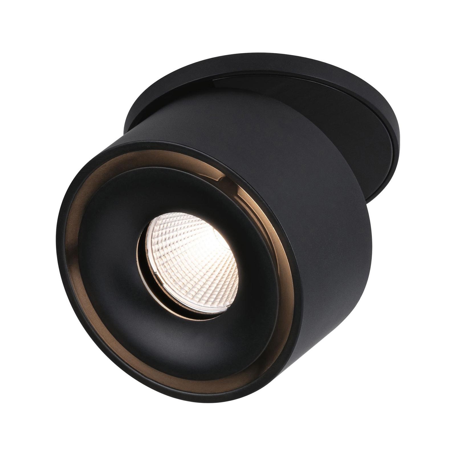 Paulmann Spircle LED-innfellingslampe matt svart