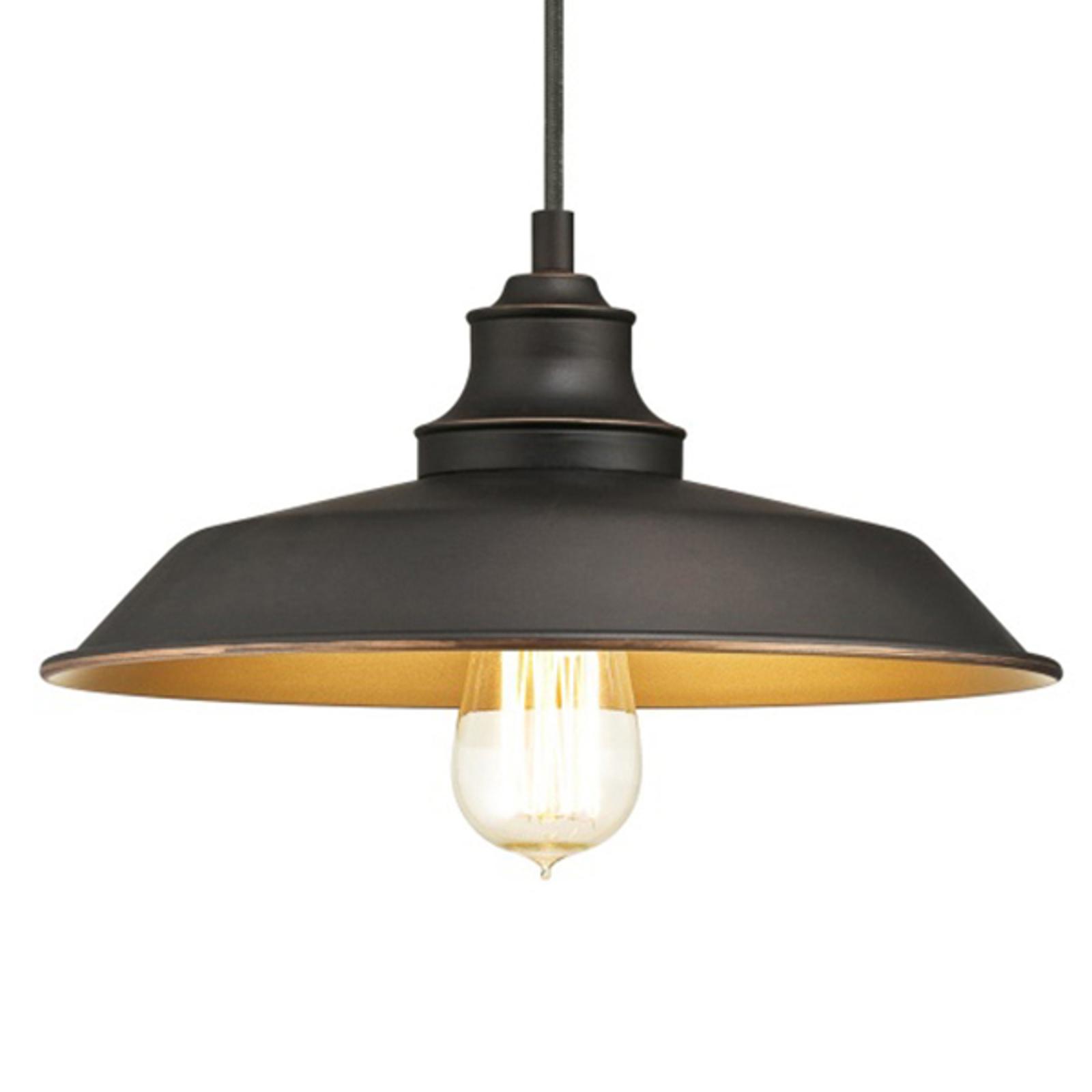Westinghouse hengelampe Iron Hill, svart, 1 lys