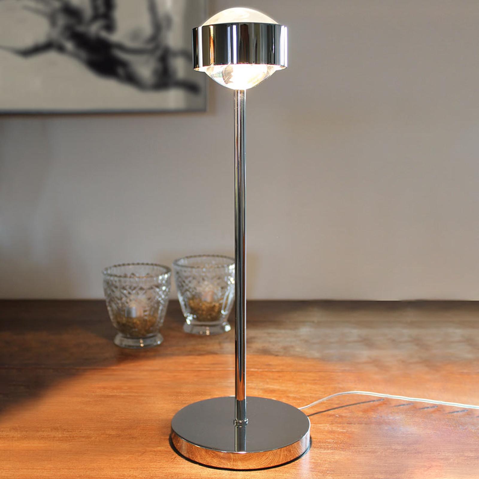 Elegante tafellamp PUK EYE, chroom