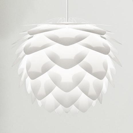 Ekstrawagancka lampa wisząca Silvia mini, biała