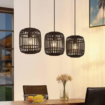 Lindby Canyana lampada a sospensione, 3 luci, nero
