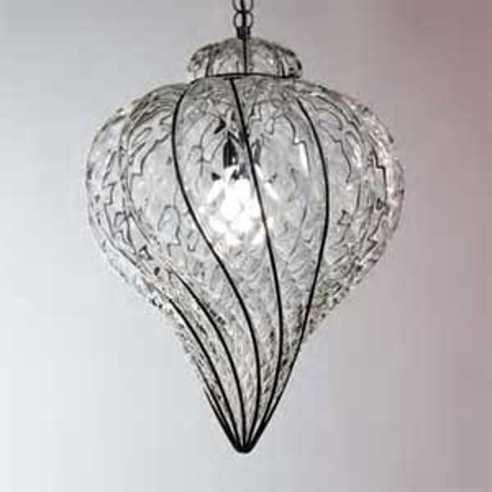 Lampa wisząca GOCCIA ze szkła dmuchanego 49 cm