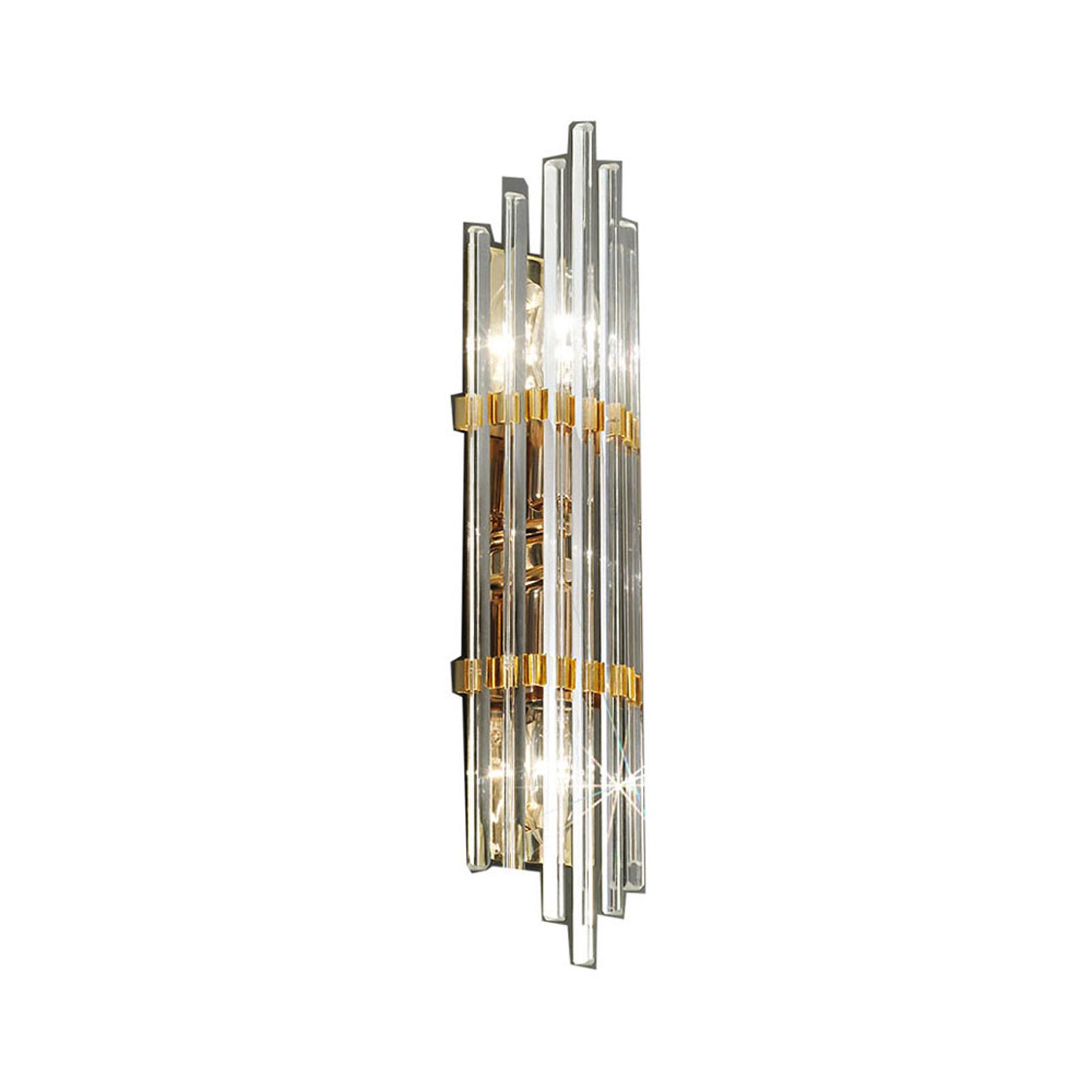 Vegglampe Ontario, høyde 41 cm, gull