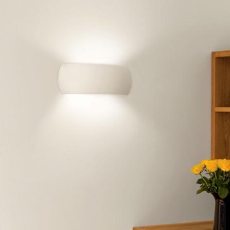 Vegglampe Milo i gips for individuell utforming