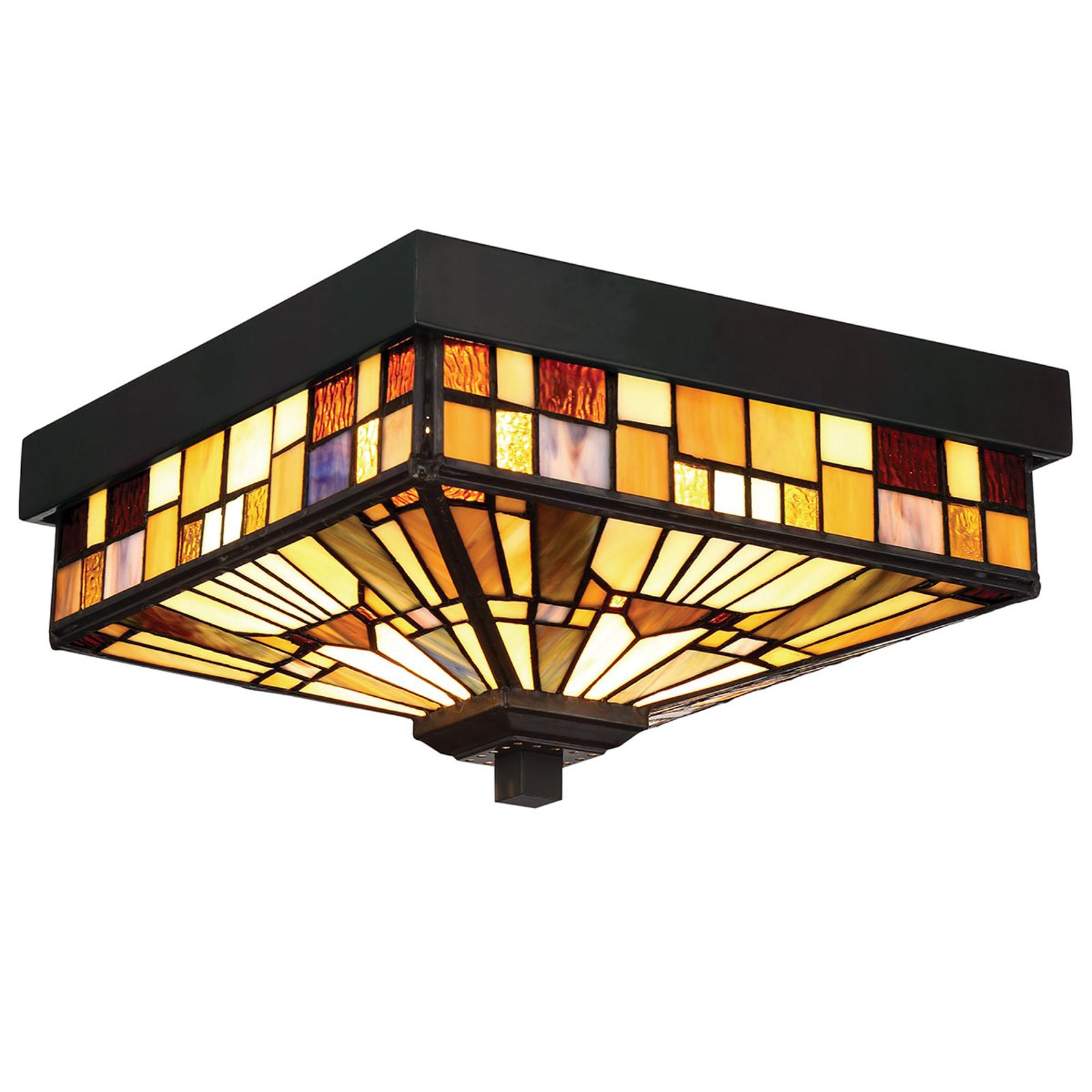Inglenook utendørs taklampe med fargerik glass