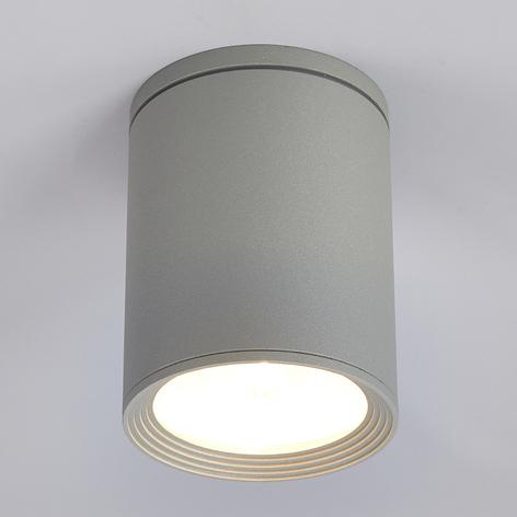 Venkovní stropní reflektor Minna, stříbrně šedý