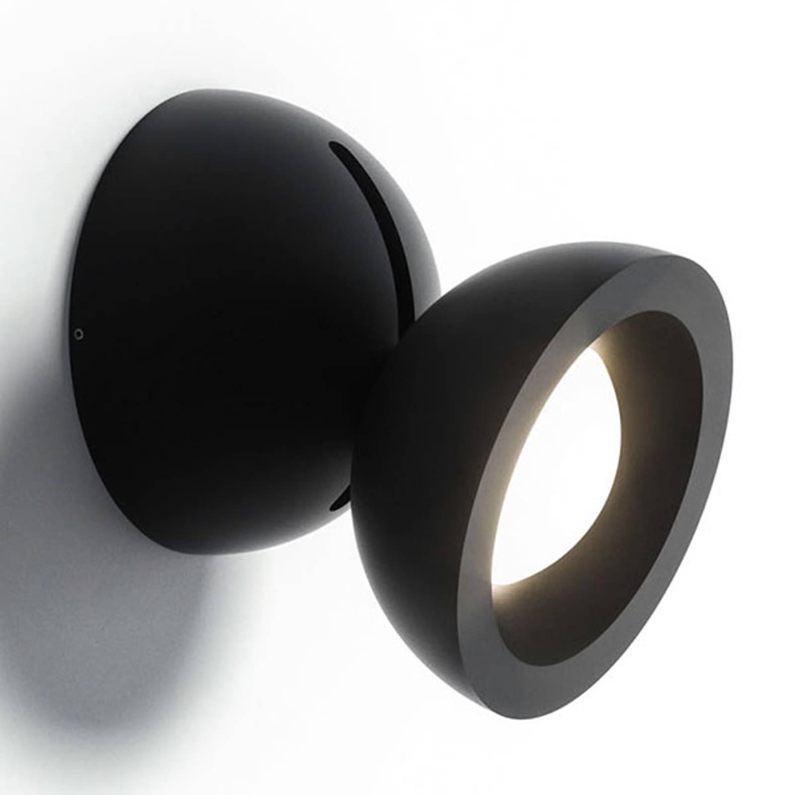 Axolight DoDot LED wandlamp, zwart 46°