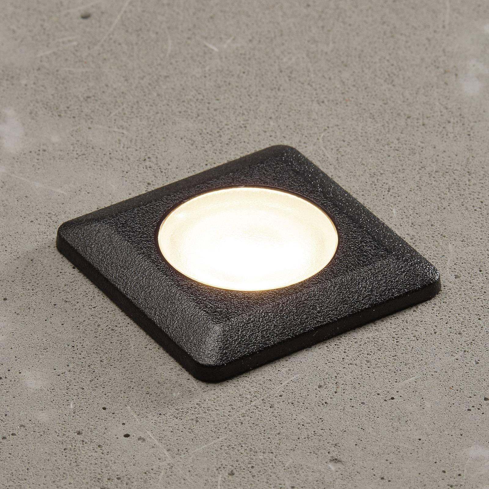 Spot LED Aldo angolare nero/trasparente 3.000K