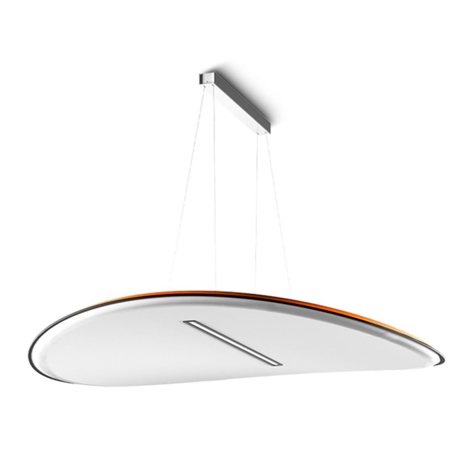 LED-Hängelampe Derby, Darklight-Filter weiß-orange