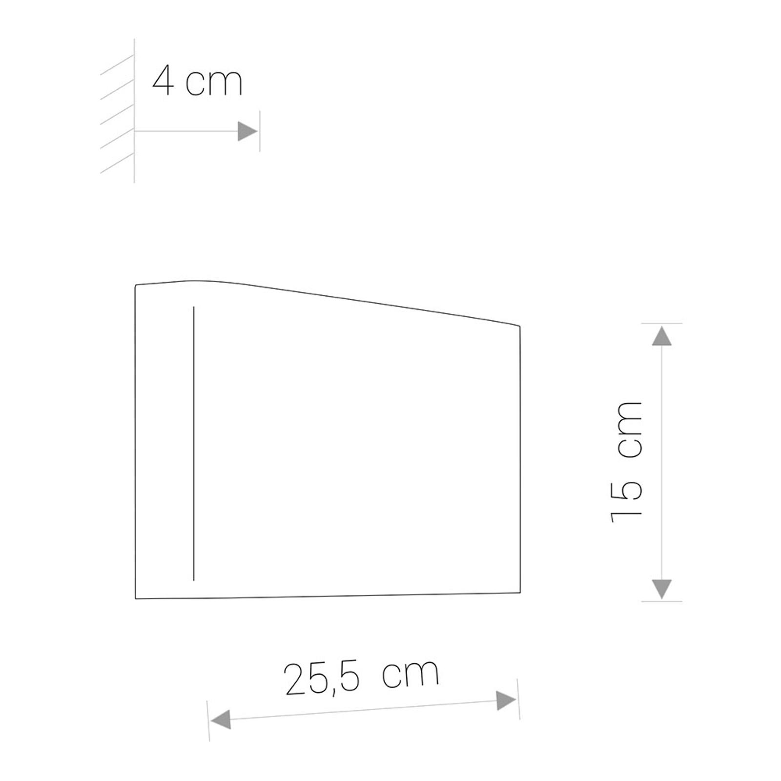 Wandleuchte Haga aus Metall, up & down, graphit