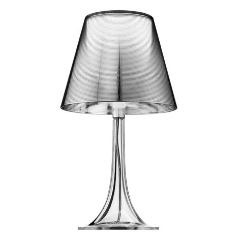 Sølvfarvet MISS K bordlampe i retro-design