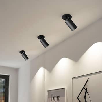 Arcchio Davin inbouwspot, cilinder, zwart