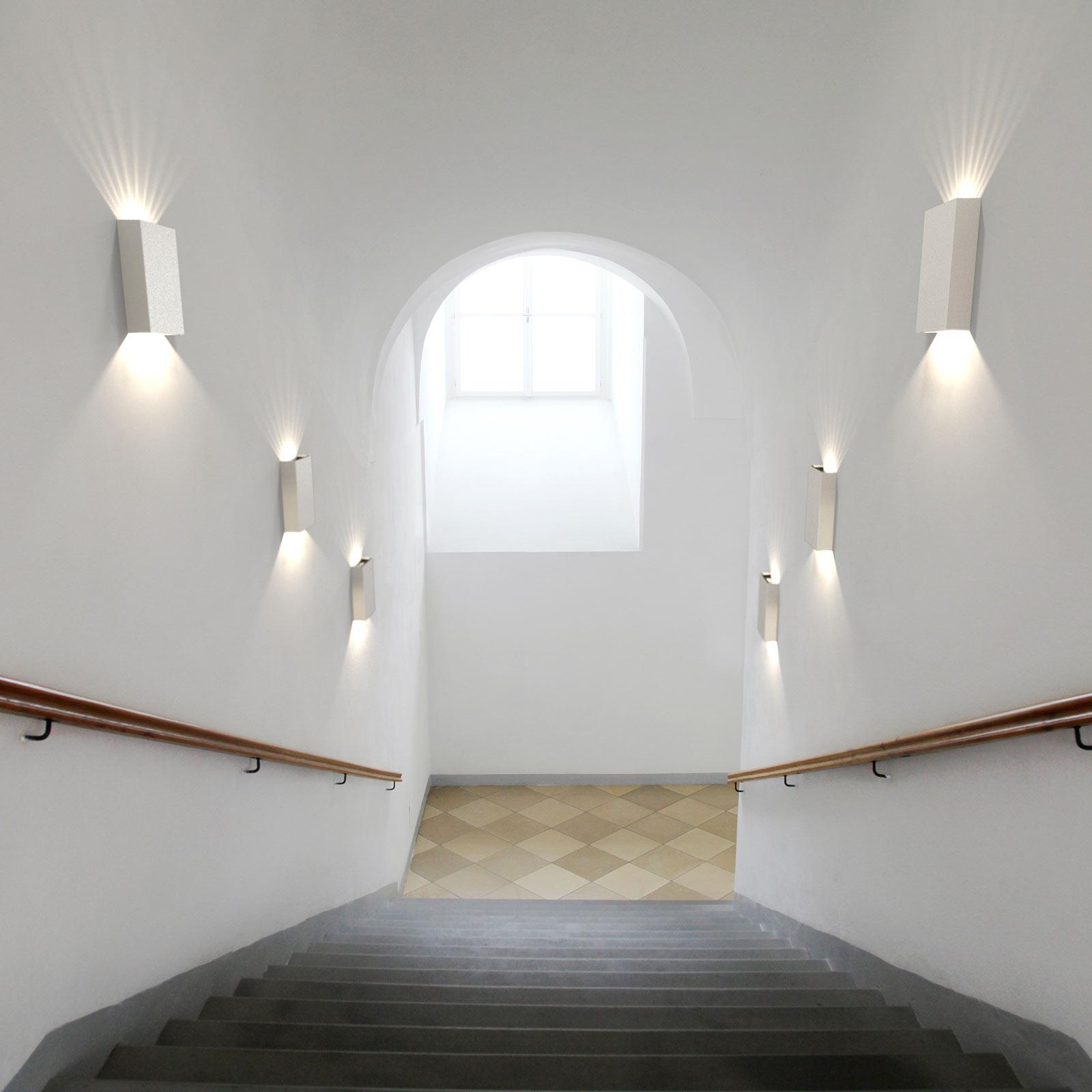 LED-Außenwandleuchte Fold, 15 x 21 cm, weiß