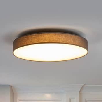 LED-taklampa Saira i textil, 50 cm, grå