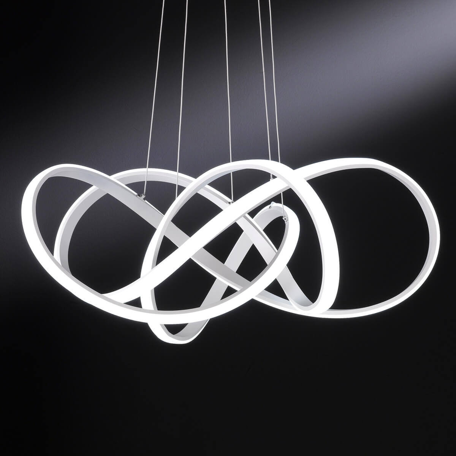 Art - jasna lampa wisząca LED, gięta