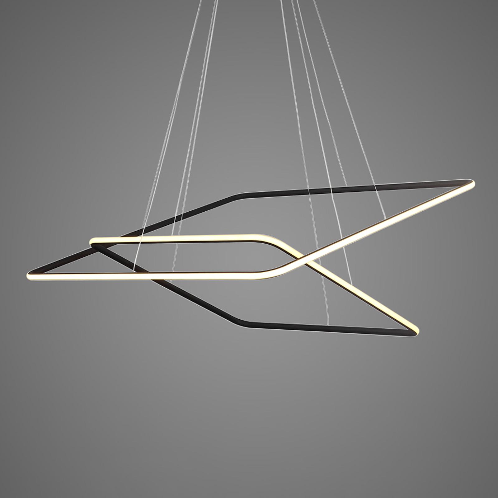 Lampa wisząca LA077 2-pkt. 80x80cm czarna 3000K
