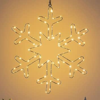 LED sfeerlamp zilveren sneeuwvlok