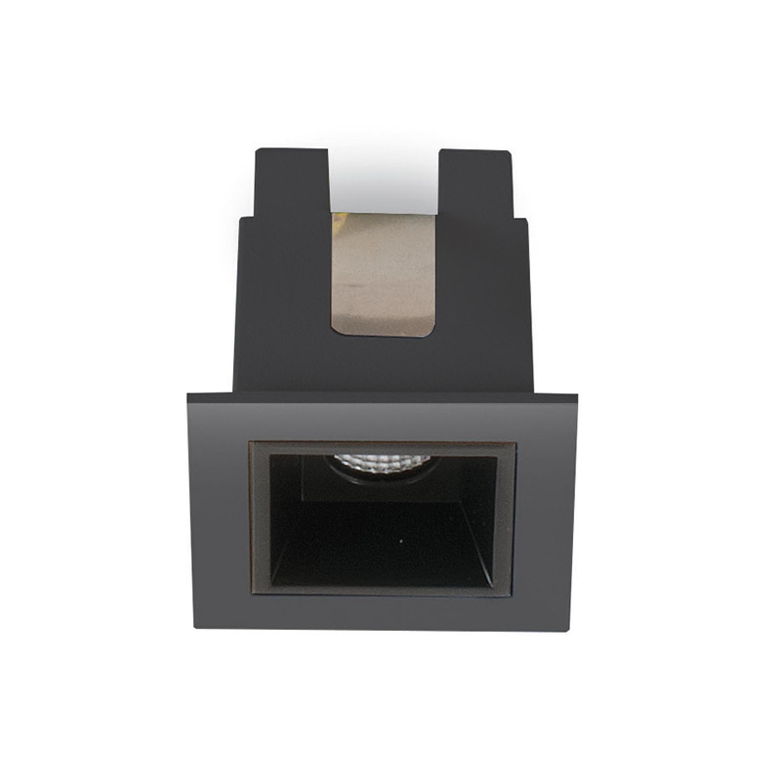 LED-Einbauleuchte Sound 1 30° mit Rahmen, schwarz