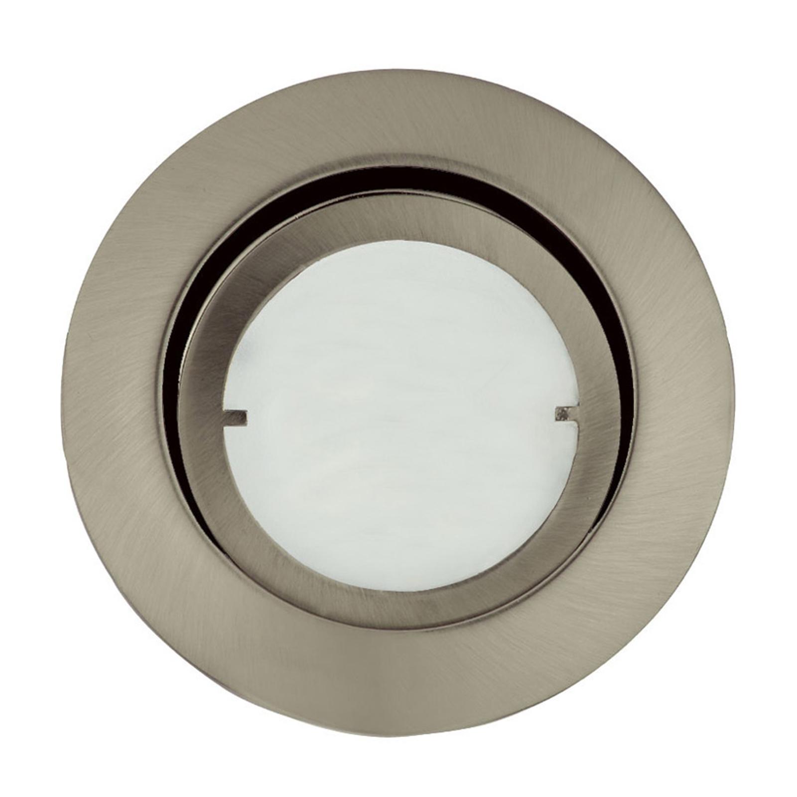 Lampa wpuszczana JOANIE z LED, szczotk. żelazo