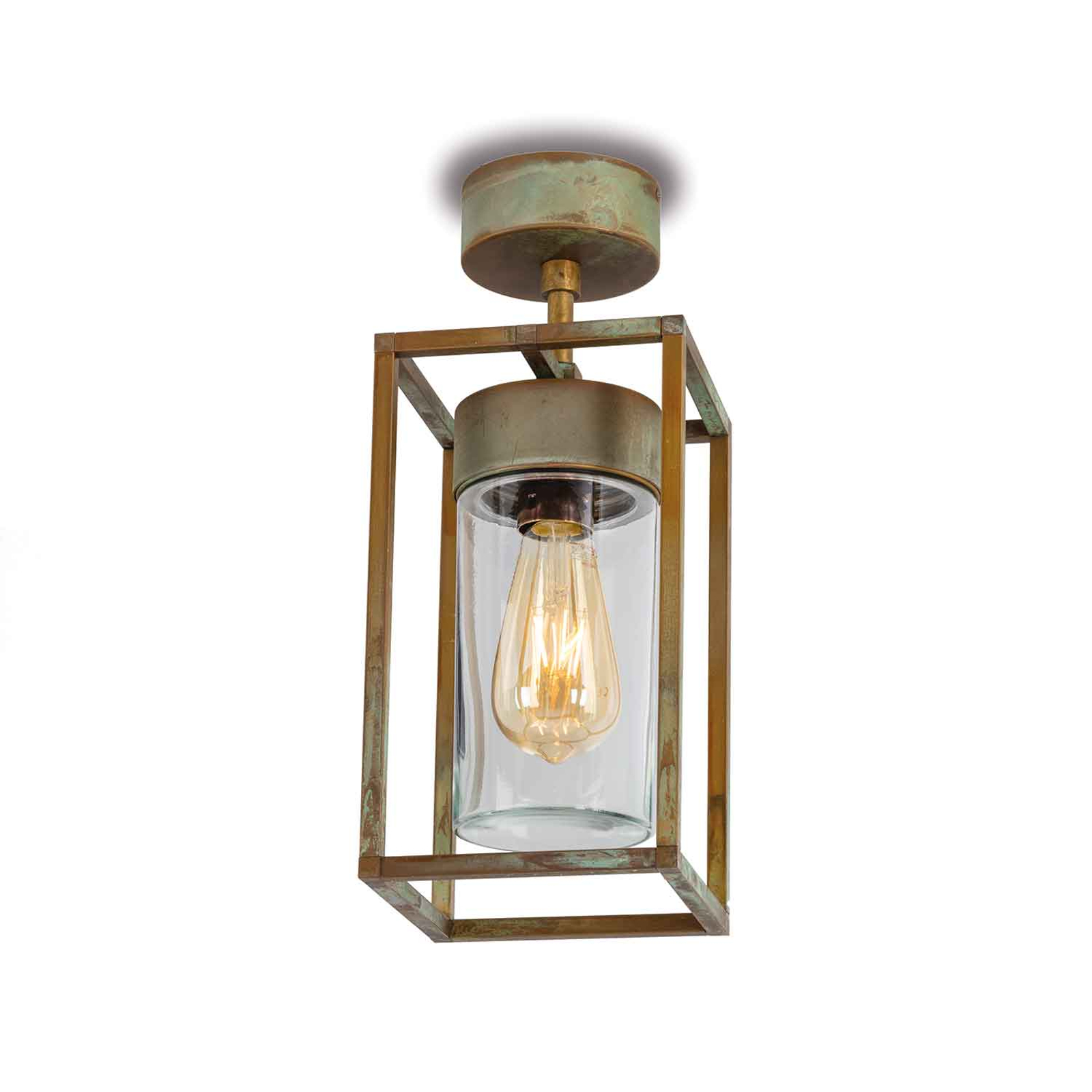 Plafondlamp Cubic³ 3367 messing antiek/helder