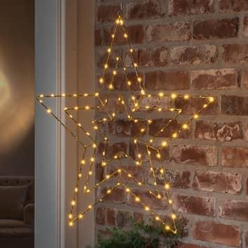LED-Dekoleuchte Goldstern 66x64 cm