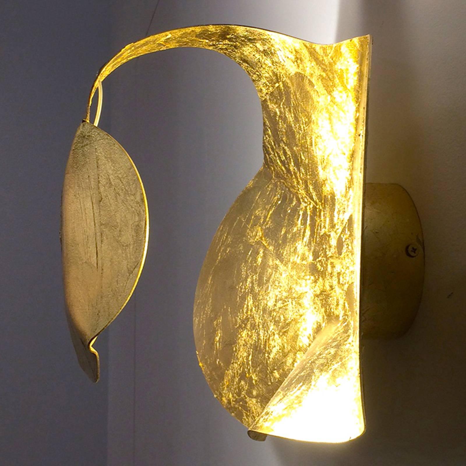 Led designer wandlamp Gi.Gi, 40 cm, goud