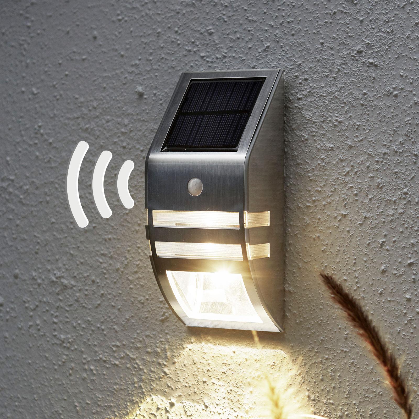 Ścienna lampa solarna LED Wally, czujnik ruchu