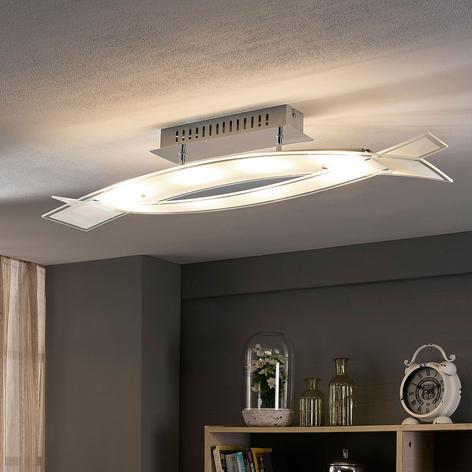 LED-taklampe Fiete i glass