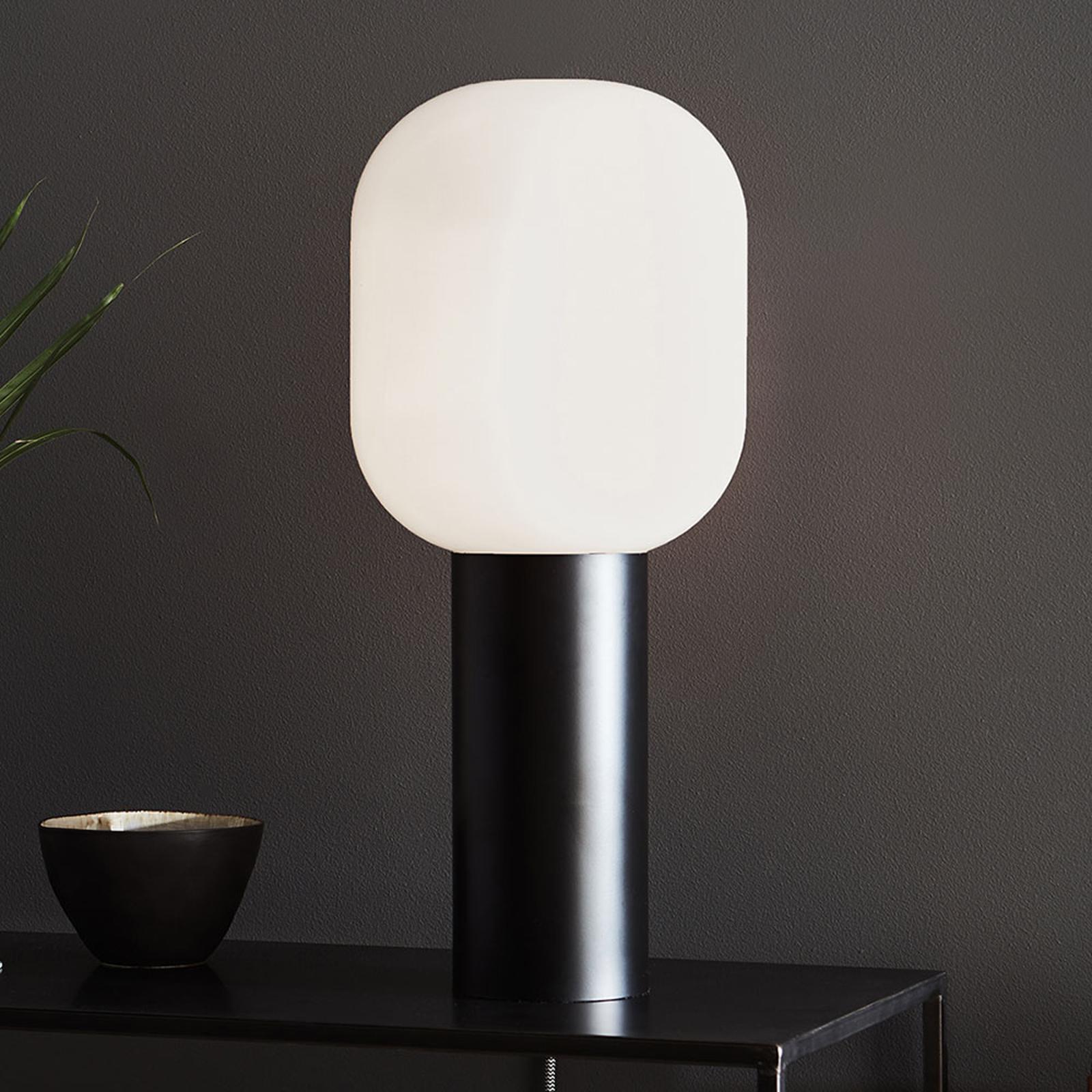 Lampe à poser Brooklyn, blanc opale, 56cm