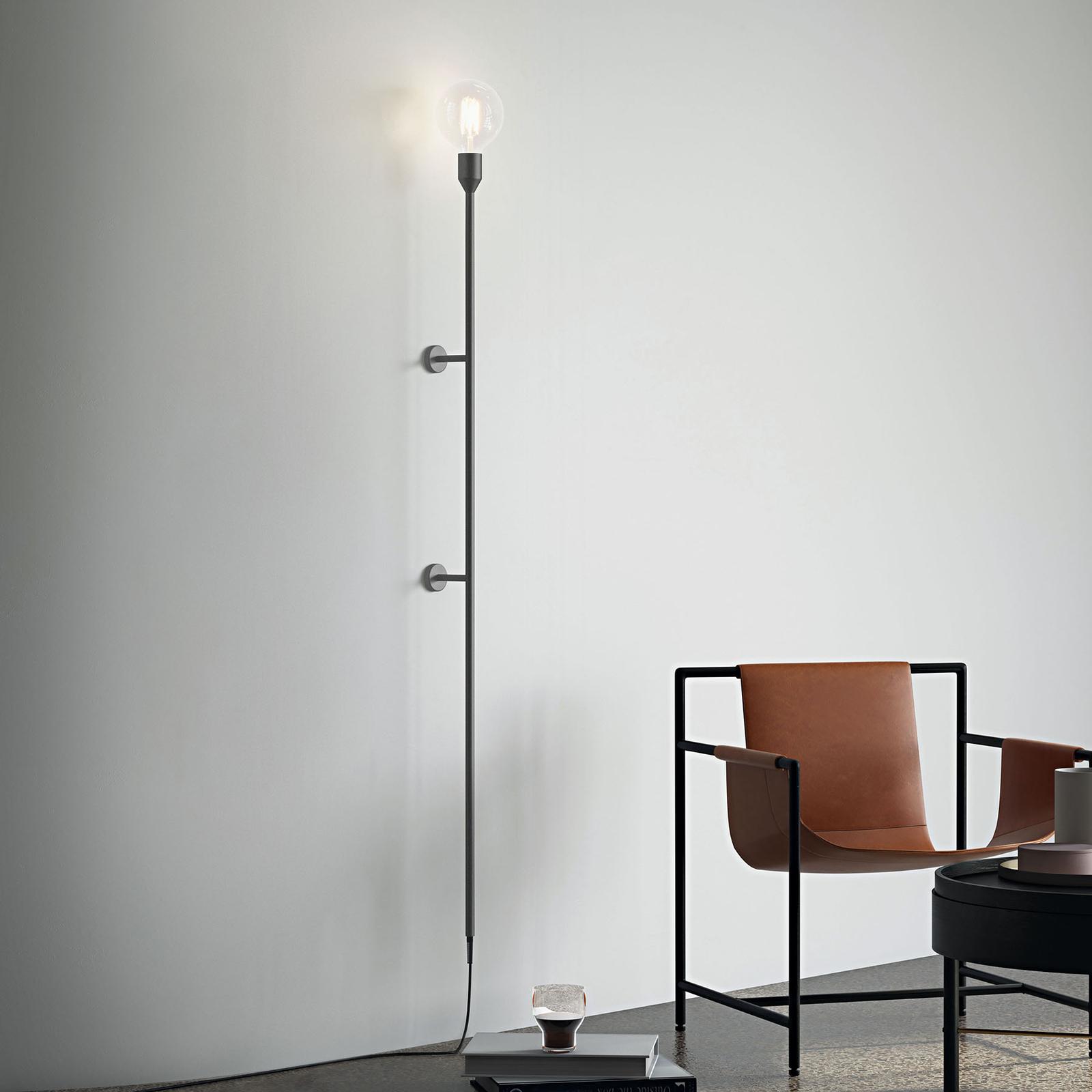 Modo Luce Geco applique 155cm noire avec prise