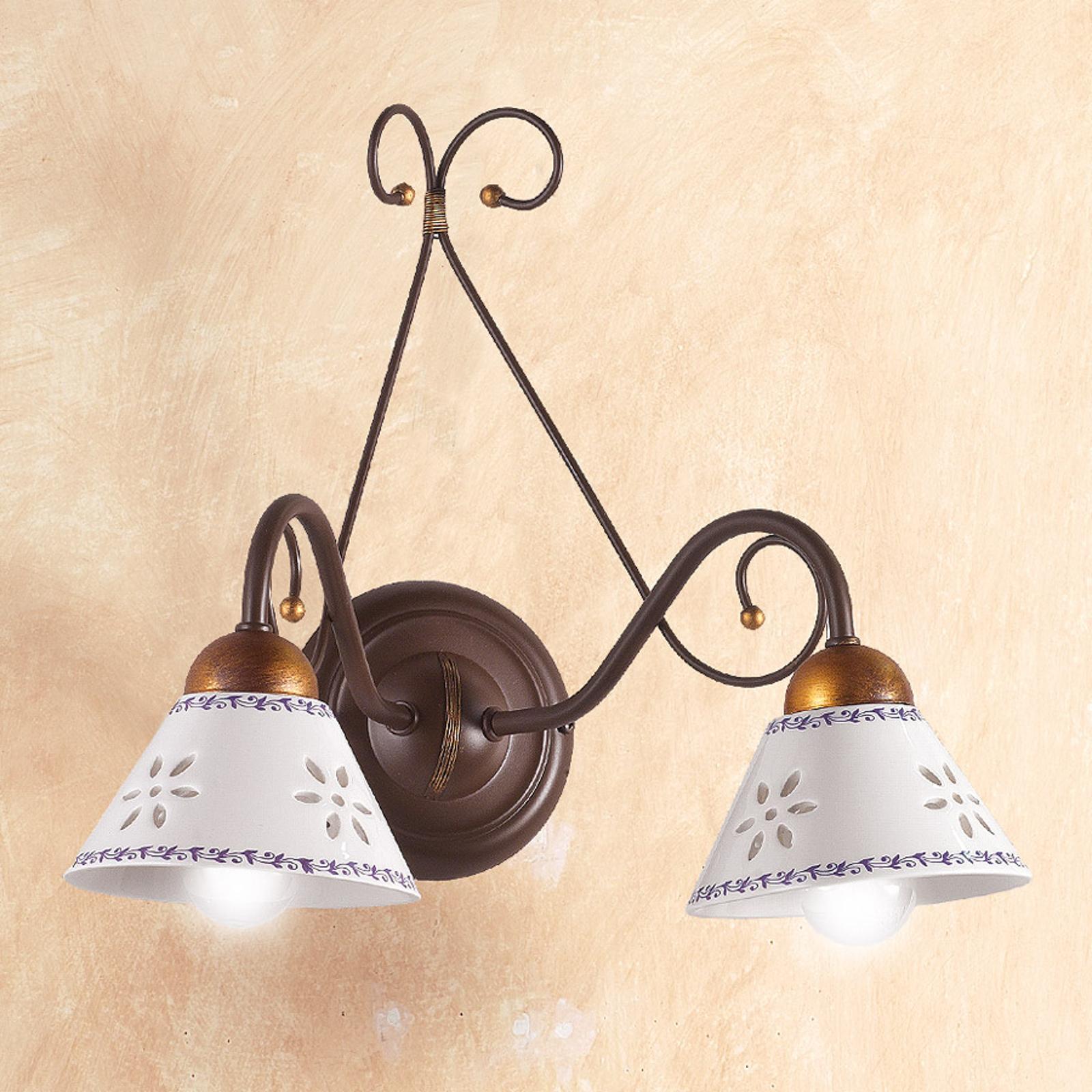 Applique 2 lampes LIBERTY