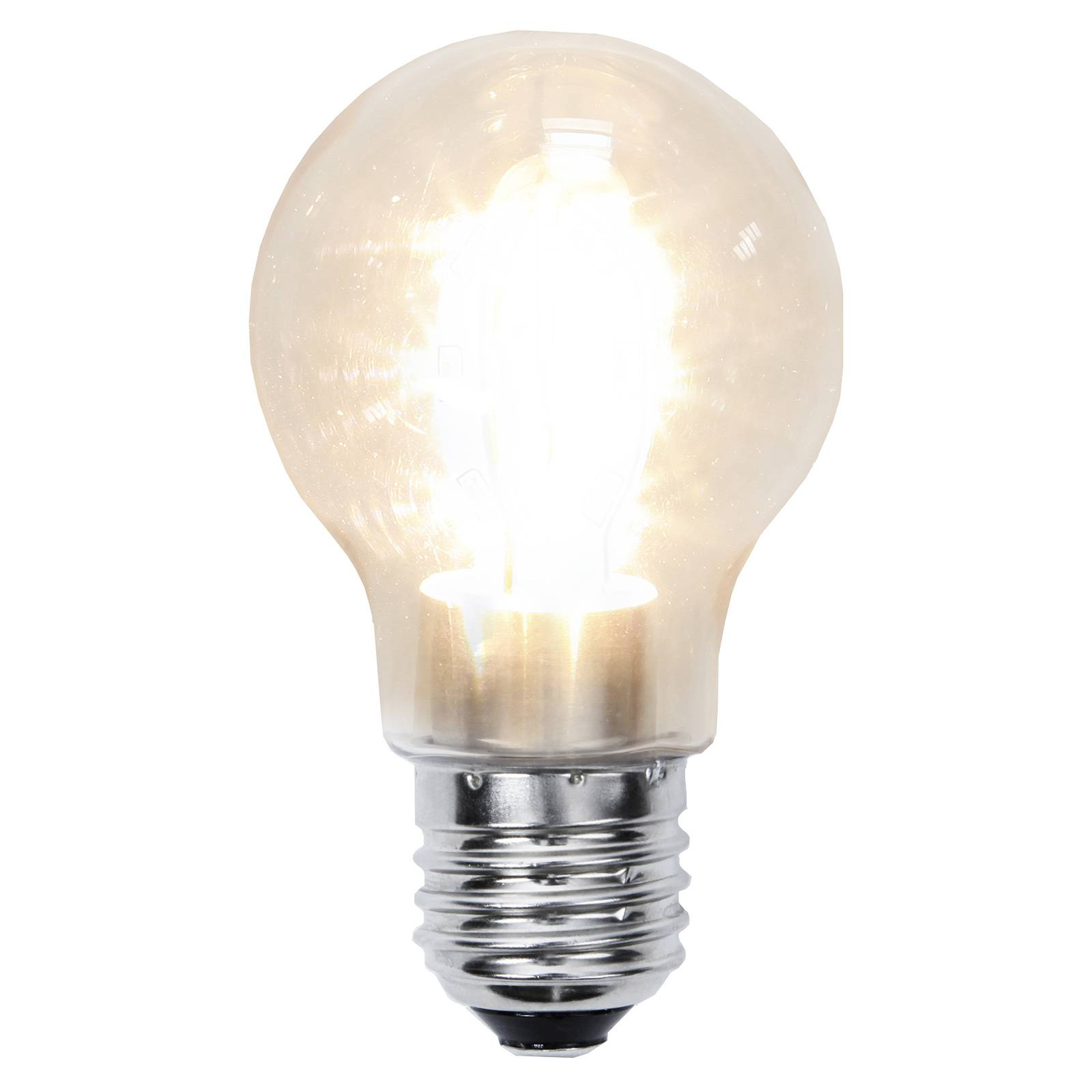 Lampadina LED E27 A55 1,6W 2.100K trasp. antiurto
