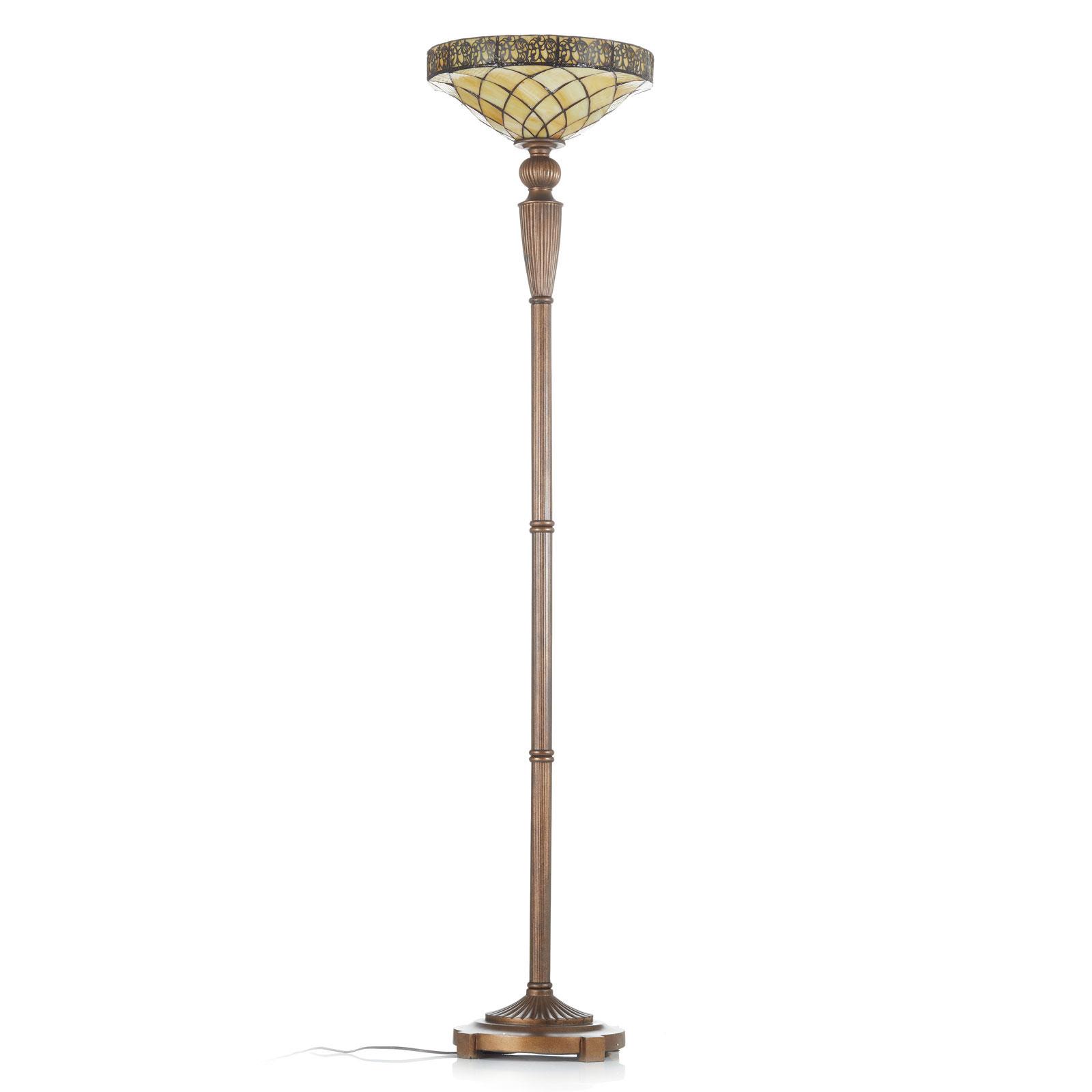 Uplight-lampe Diamond i Tiffany-stil