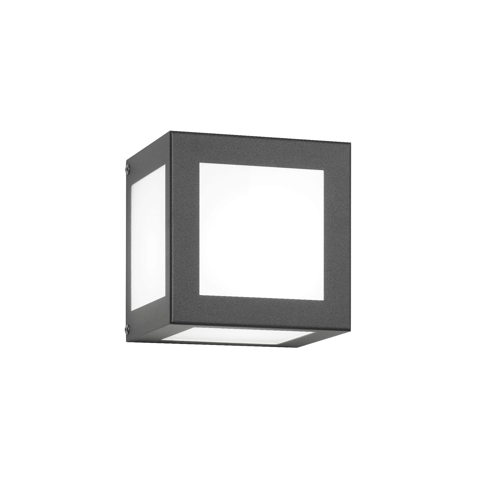 Applique d'extérieur Cubo cubique, anthracite