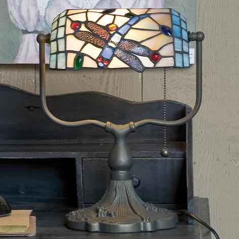 Lampada da banchiere Dragonfly in stile Tiffany