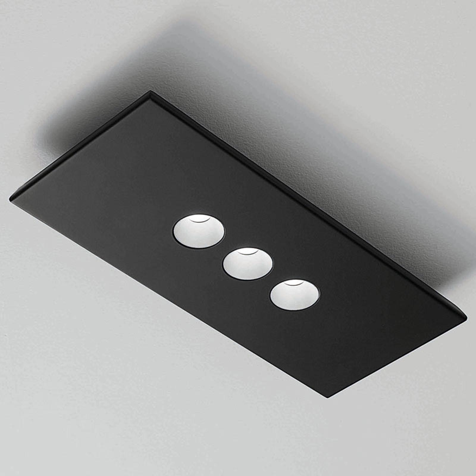 ICONE Confort LED-Wand- und Deckenleuchte, schwarz