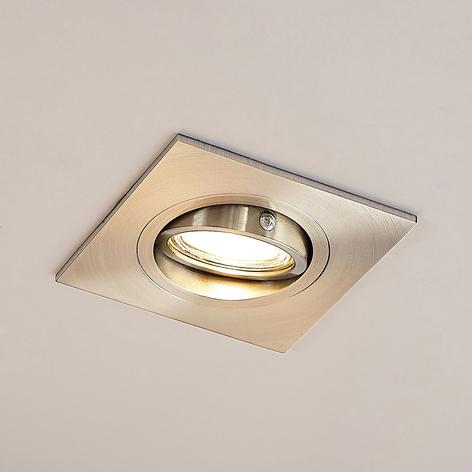 Lucande Arilena indbygningslampe, IP23, kantet