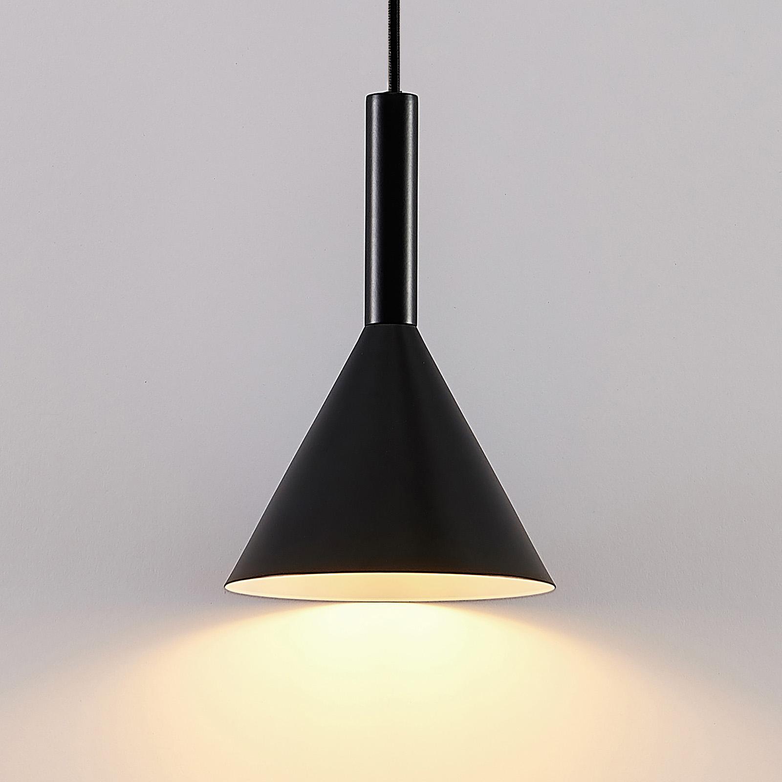 Arcchio Tadej lampa wisząca 1-pkt czarno-biała