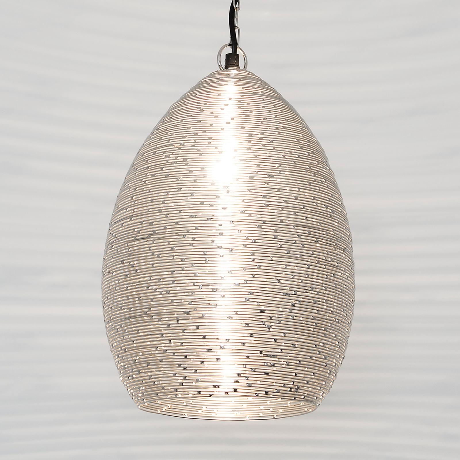 Colibri - lampada in filo d'acciaio nichelato