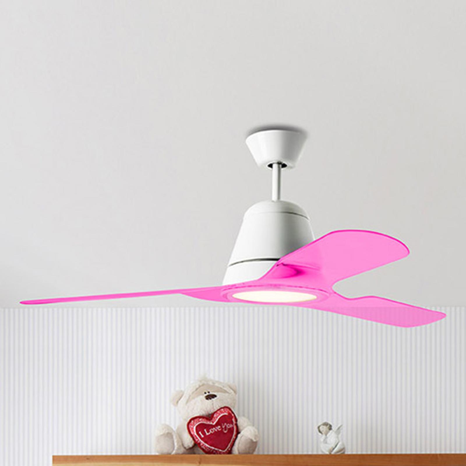 Palas rosas para el ventilador de techo Tiga