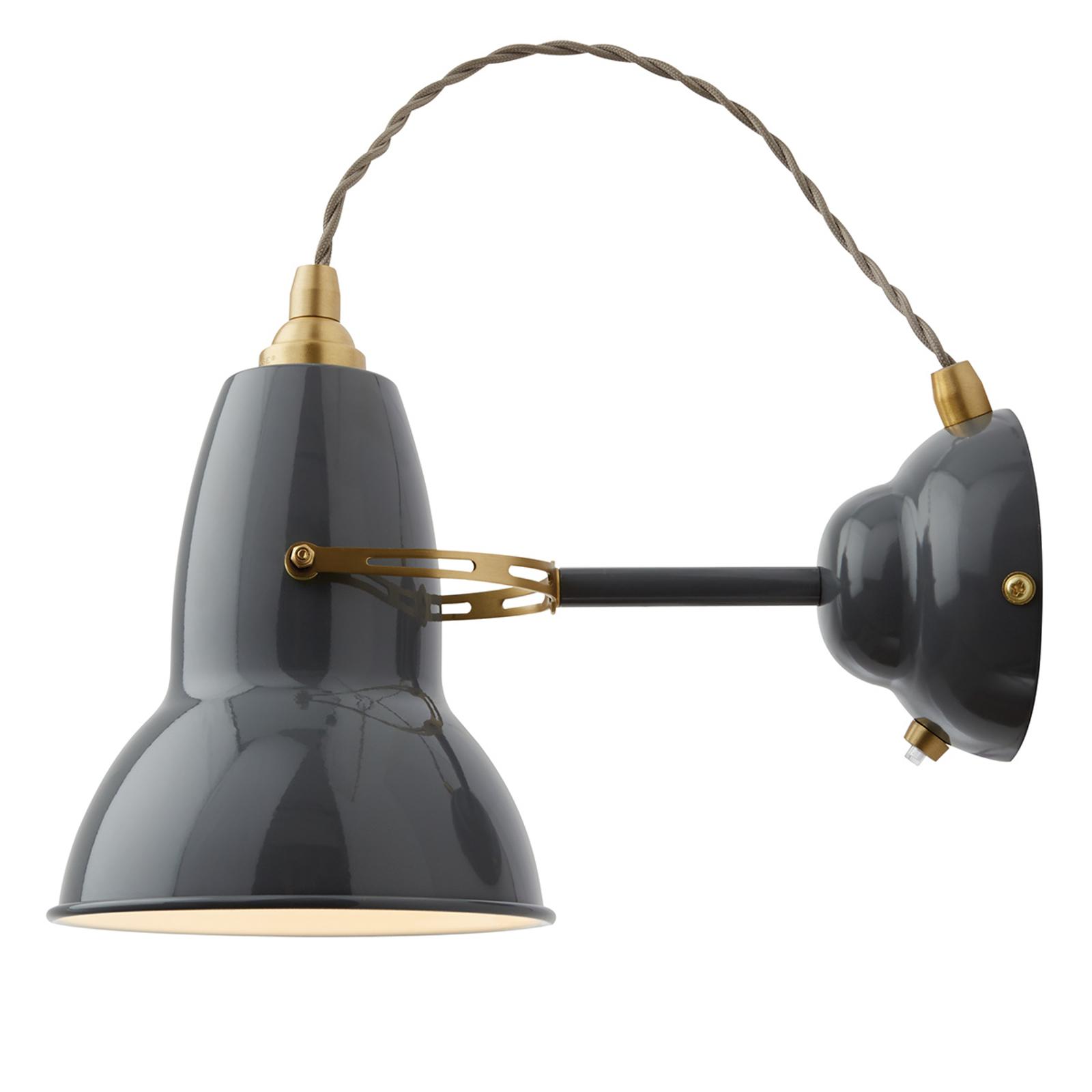 Anglepoise Original 1227 Brass Wandlampe grau