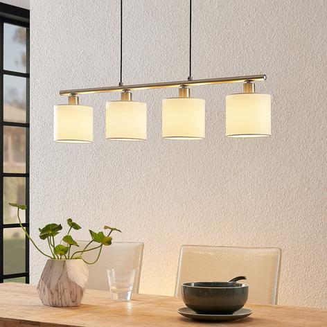 Lindby Stannis hänglampa med textil, 4 lampor