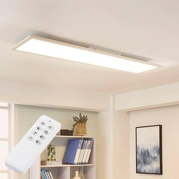Hvit LED-taklampe Lysander, dimmer