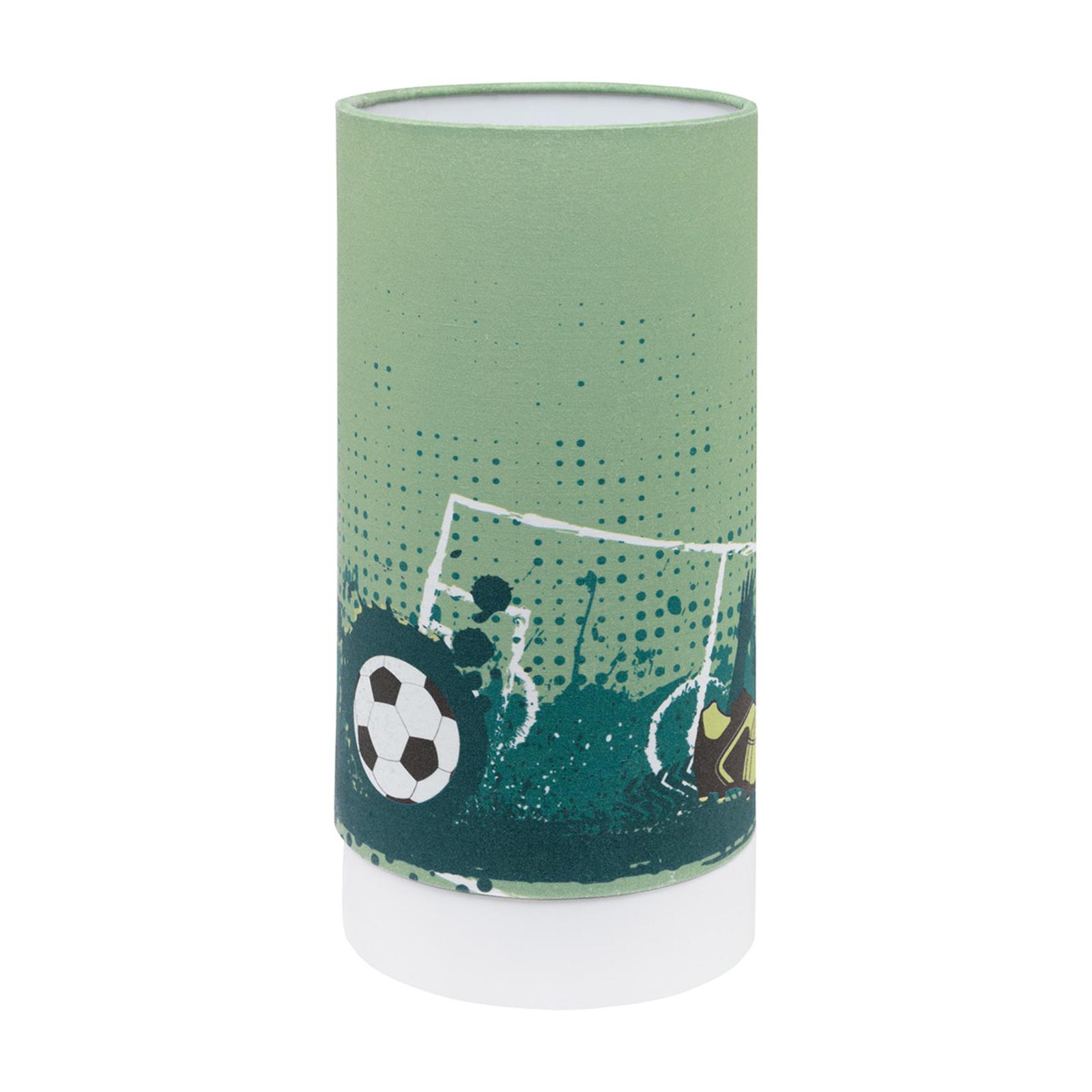 Lampa stołowa LED Tabara z motywem piłkarskim