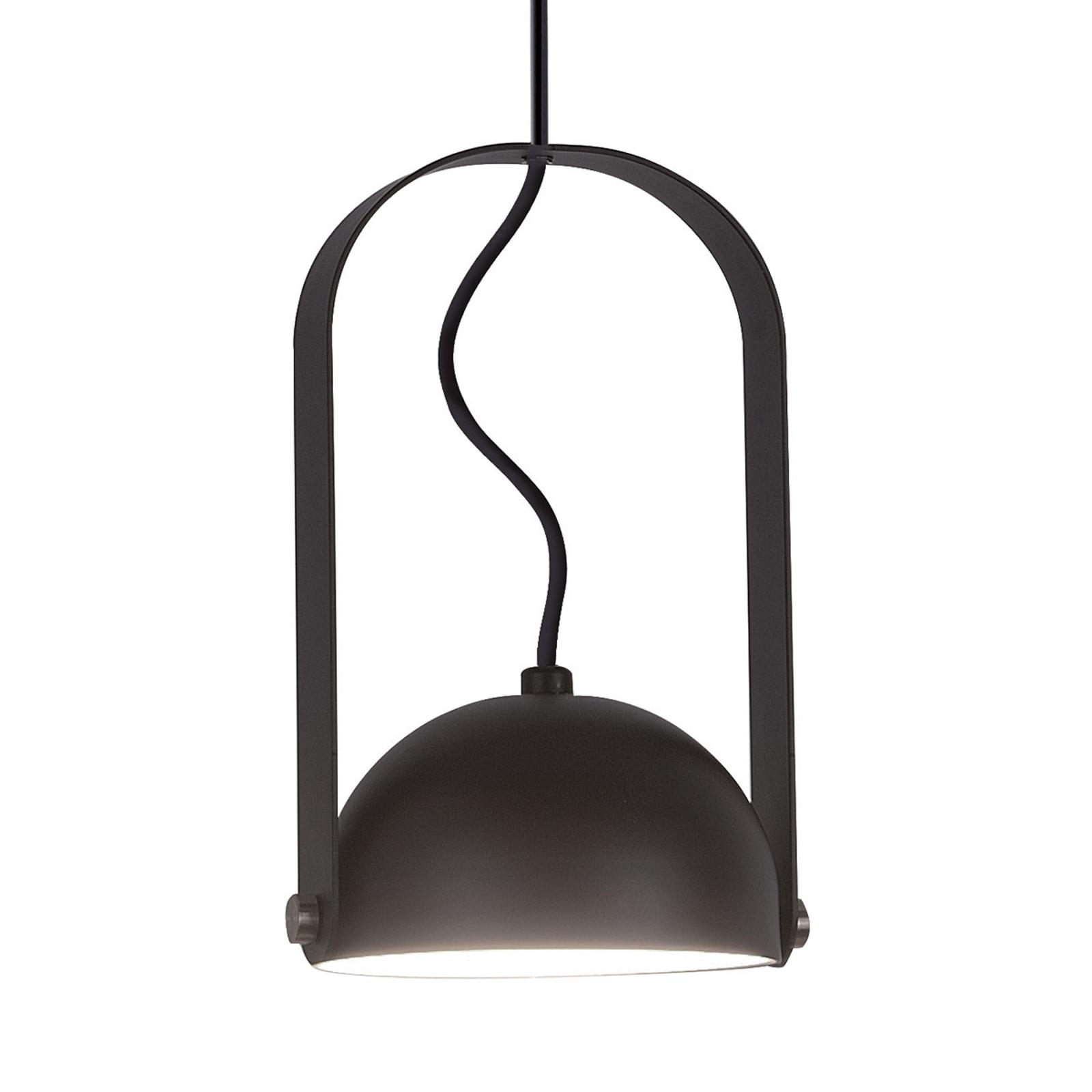 Suspension LED Hemi abat-jour inclinable noir