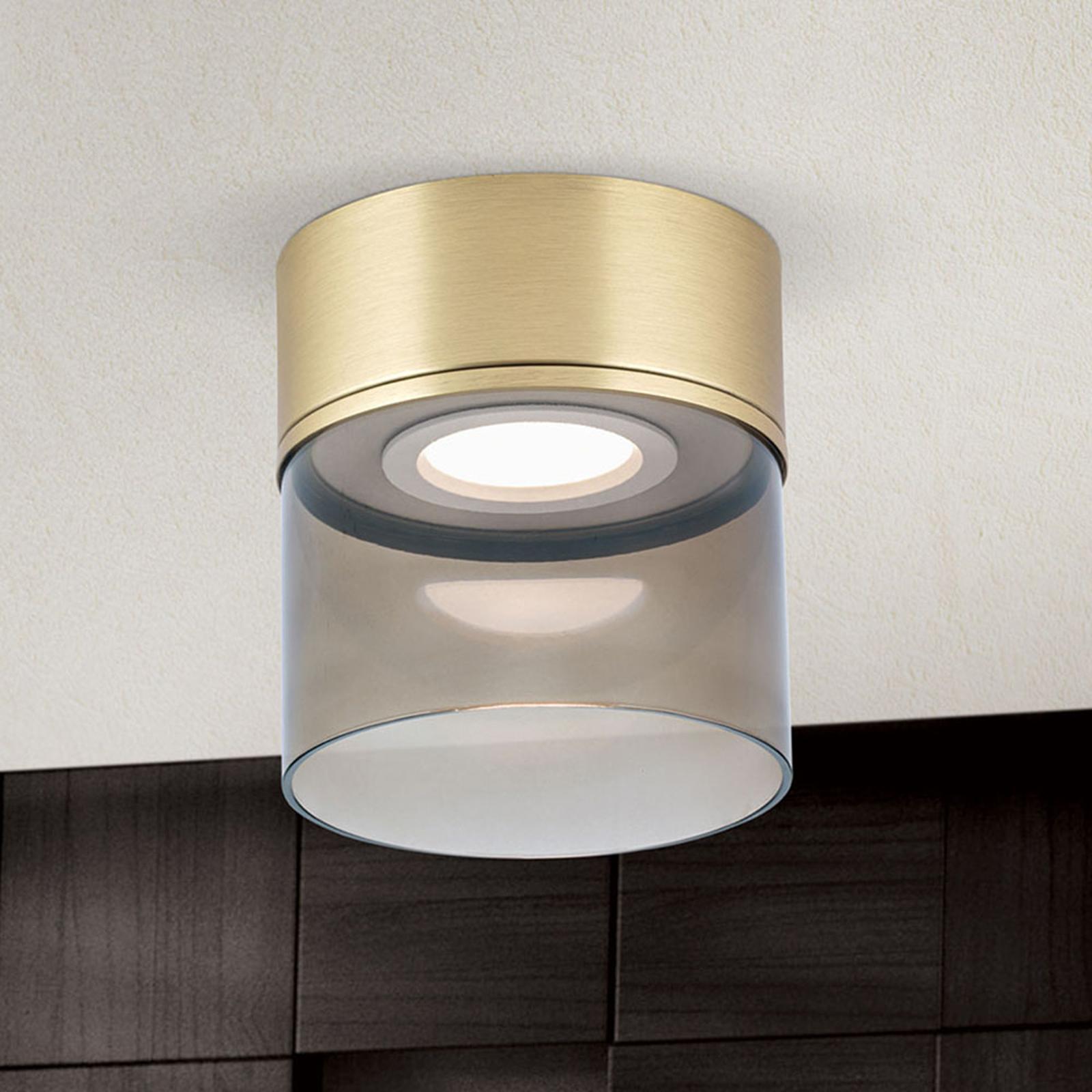 Plafoniera LED Francis ottone satinato Ø 15 cm