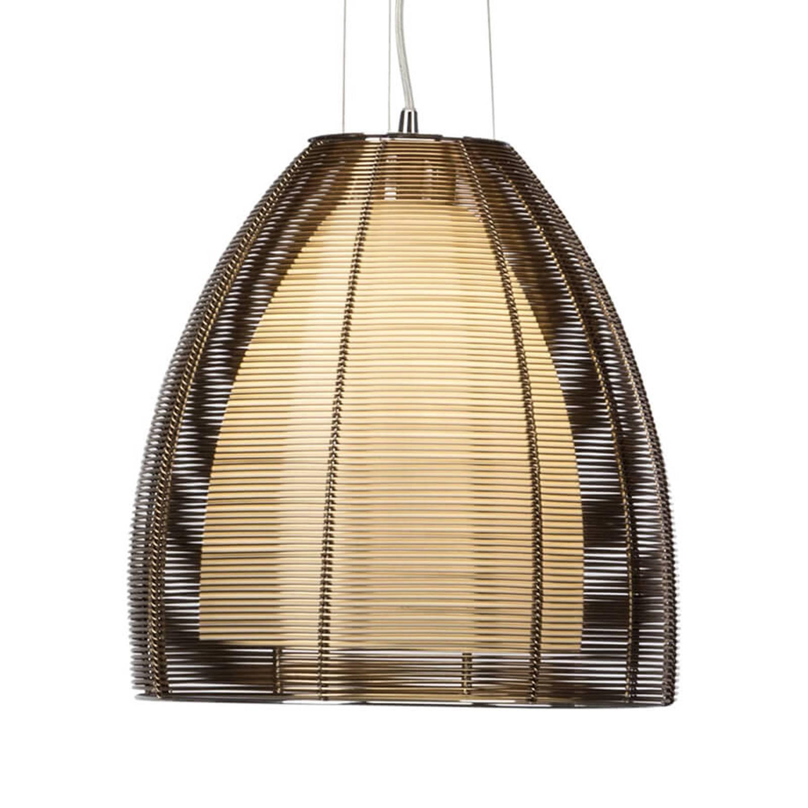 Relax - stylowa lampa wisząca, brąz