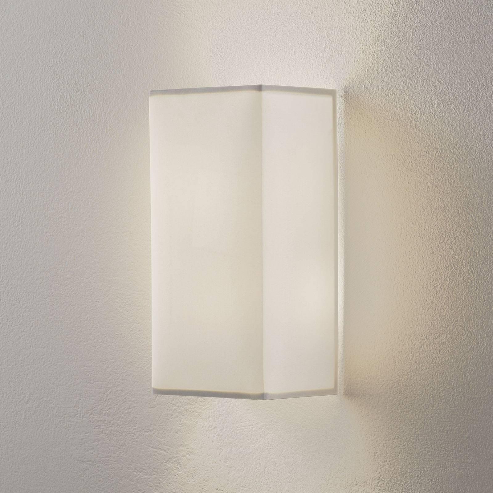 Lucande Patrik wandlamp hoekig 30cm wit