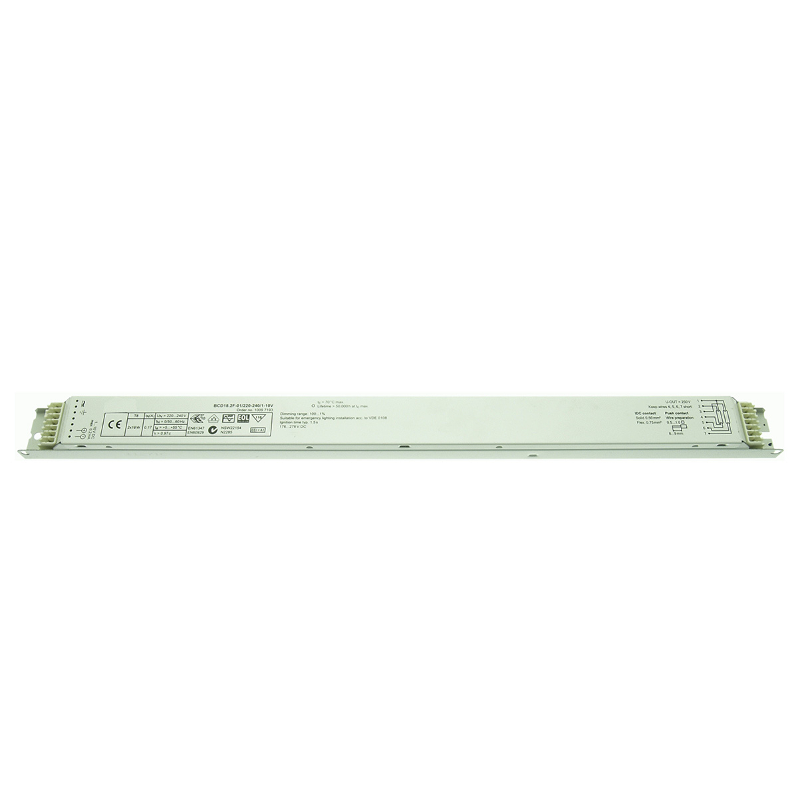 BE dimmable 2 x 18/30W T8