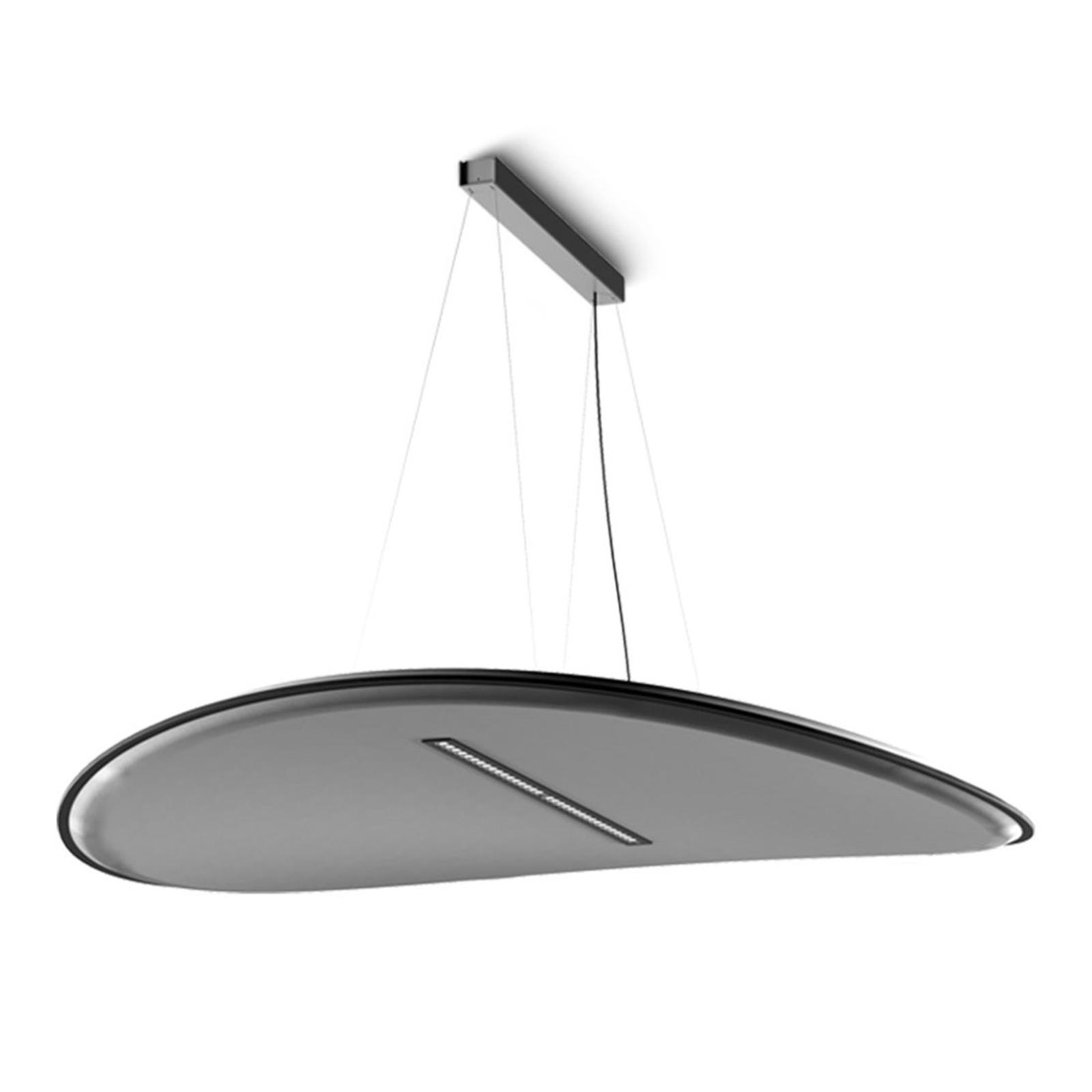 LED-Hängelampe Derby, Darklight-Filter, grau
